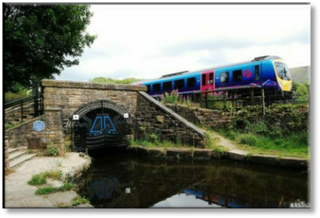 Huddersfield Narrow Canal Tunnel and Rail Line Diggle